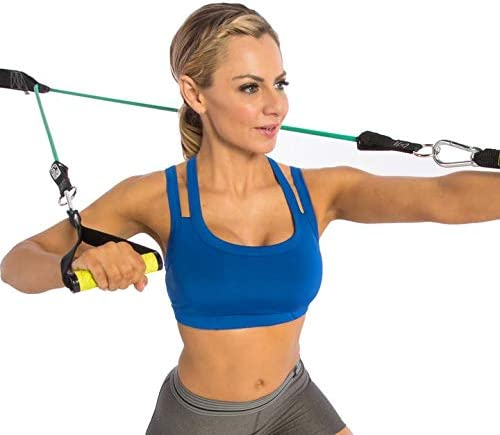Gym Resistance Bands Handles Anti-slip TPR Grip Strong Nylon Heavy Duty Ca W0