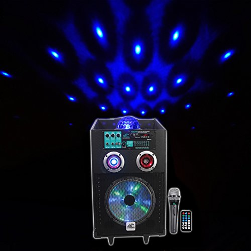 NYC Acoustics N10AR 10'' Rechargable Powered Speaker w Bluetooth Party Lights/Mic by NYC Acoustics