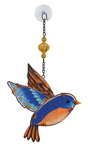 Regal Art & Gift Blue Bird 7.25 inches x 1 inches x 12.75 inches Metal Glass Plastic Sun Catcher - Garden Accessories by Regal Art & Gift