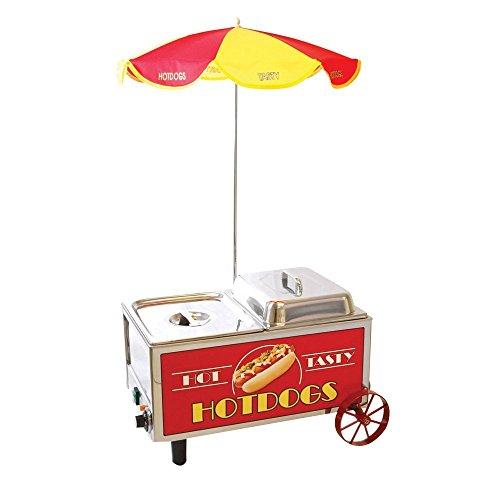 - Benchmark 60072 Mini Cart Hotdog Steamer, 120V, 1200W, 10A