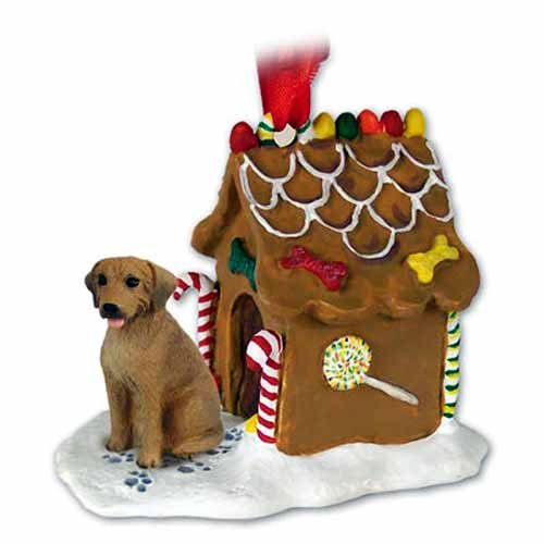 Rhodesian Ridgeback Gingerbread House Christmas Ornament - DELIGHTFUL! ()
