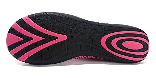 Eagsouni® Respirable de Playa para B Natación Surf Piscina Yoga Calcetines Agua Rosa de Zapatos Aire Libre Secado Unisex Rojo Deportes Descalzo Acuáticos de Rápido Mujer Calzado Hombre Yxr5Yqw6