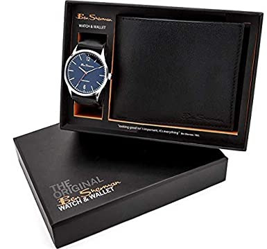 35d6df2d2b1d Image Unavailable. Image not available for. Colour  Ben Sherman Blue Dial  Black Strap Gents Watch   Black Wallet Gift Set BS120G