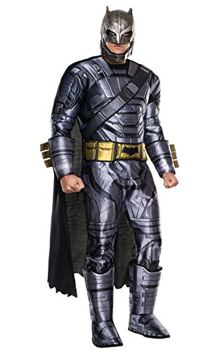 [Rubie's Men's Batman v Superman: Dawn of Justice Deluxe Batman Armored Costume, Multi, Standard] (Hero Costumes For Men)