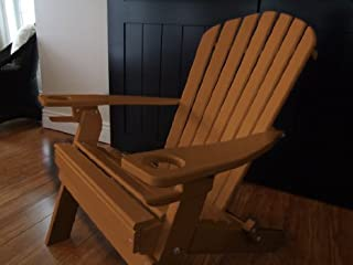 product image for Poly Recycled Plastic Adirondack Chair with One Cupholder-Cedar