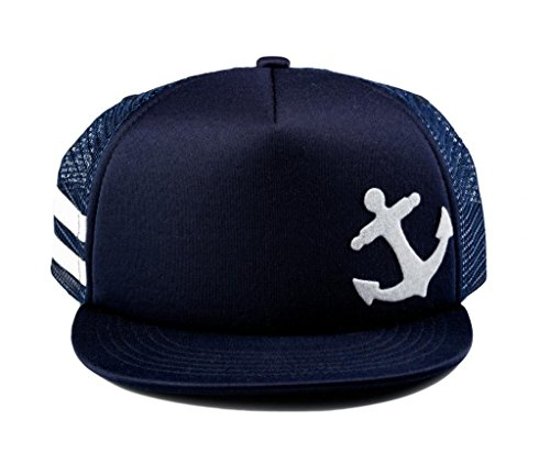 (Born to Love Baby Boy Infant Trucker Sun Hat Toddler Baseball Cap Navy Anchor Hat M 53 cm 2 to 5)