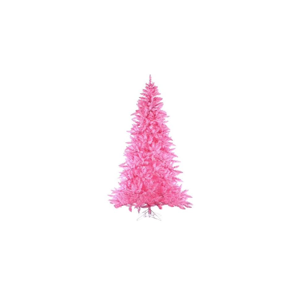 7.5 Pre Lit Designer Pink Ashley Spruce Artificial Christmas Tree   Pink Lights