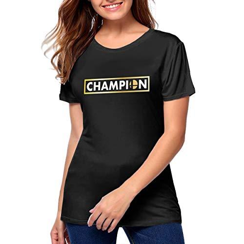 Super Smash Bros Womens O Neck Short Sleeve Tshirts L Black