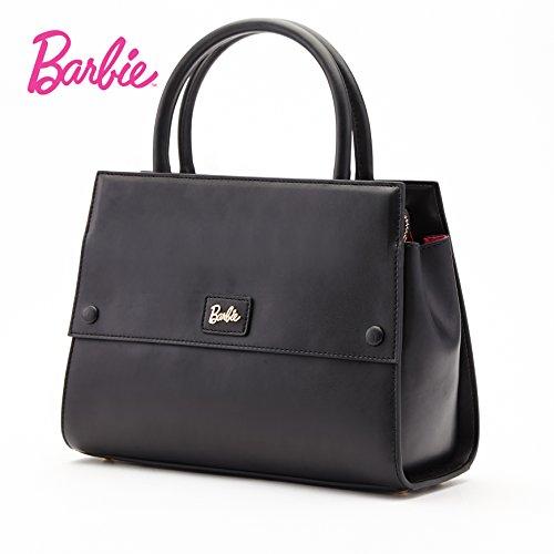 Luxe Sac Mode couleur de cuir Femmes série Barbie Elégant Main la en à pure pour Filles de noir BBFB104 à Shopping OCwn01qBxd