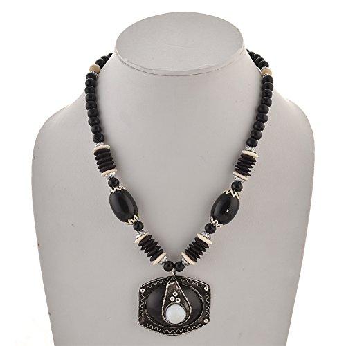Zephyrr Fashion Tibetan Style Pendant Necklace Earrings Set Handmade ()