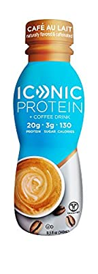 Iconic Grass Fed Protein Drinks, Chocolate Truffle (12 Pack) | Creamy, Low Calorie, High Protein Shakes