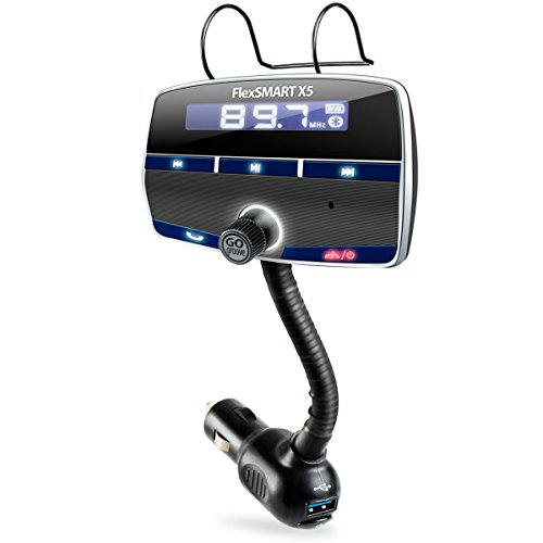 GOgroove FlexSMART X5 Bluetooth FM Transmitter Car Kit with Hands-Free Calling, Music Playback, USB Charging and Multiple Mounting Options - Works with Apple, Samsung, ASUS and More! by GOgroove