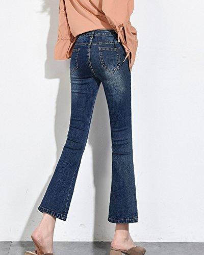 Taille vas Jean Haute Femme Bleu vase Coupe Skinny Elastique Pantalon q7ZYZOxw