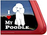 I Love My Poodle ~ Poodle Dog Vinyl Window Auto Decal Sticker