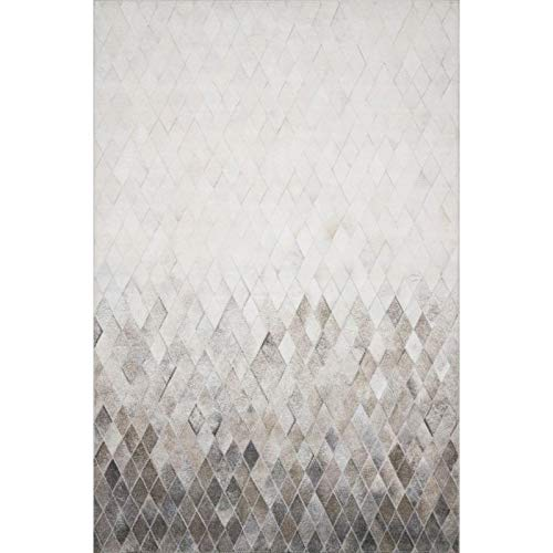 Loloi II Maddox Collection AD-04 Faux Cowhide Patchwork Print Area Rug 7'-6