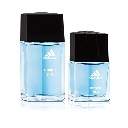 Adidas Fragrance Moves for Him 2 PC 0.5 oz Eau de Toilette, 1.0 oz Eau de Toilette