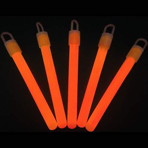 """Glow Sticks Bulk Wholesale, 50 4"""" Orange Glow Stick Light Sticks. Bright Color, Kids Love Them! Glow 8-12 Hrs, 2-Year Shelf Life, Sturdy Packaging, GlowWithUs Brand ()"""