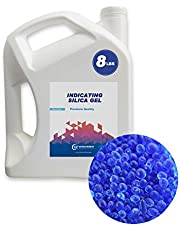 Wisesorb 8LBS Premium Quality Reusable Indicating Silica Gel Desiccant Beads-Rechargeable (Blue to Pink, Silica Gel)