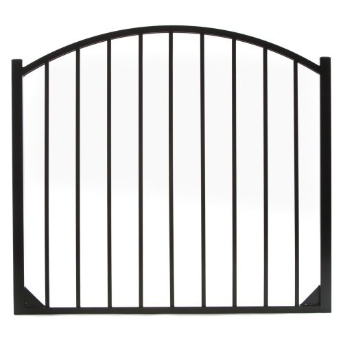 2 Rail Gate - Specrail DIY Fence GR9482A048ARCHBL Bethany Aluminum Arched 2-Rail Fence Walk Gate with Hardware, 54 by 48-Inch