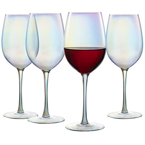 Handblown Universal Wine Glasses, 17 Ounce Lead·Free Crystal Long Stemmed Glassware All-Purpose Wine Glass for Red or…