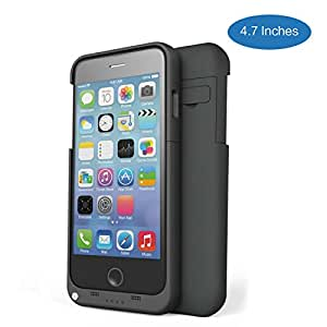 iPhone 6S Battery Case, iPhone 6 Battery Case, iBeek?? 3200mAh Portable External Battery Backup Charger Case Pack Power Bank for iPhone 6s /6 4.7 inch (Black)