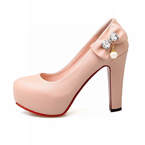 Eleganti Alto Con Ciondolo Rosa Strass Tacco Donna Scarpe Da POCxtq7w