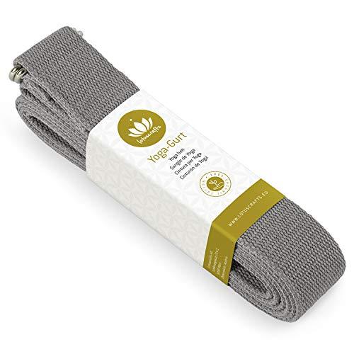 Lotuscrafts Yoga Cinturon Algodon - 100% Algodon (Cultivo Biológico) - Correa Yoga Algodon para Mejores Estiramientos - Cinturón de Yoga con Cierre de Metal - Yoga Strap Belt [250 x 3,8 cm] a buen precio