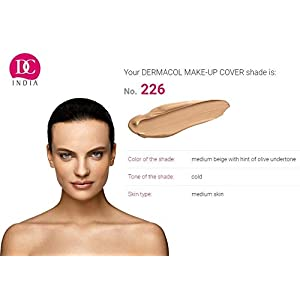 DC DERMACOL High Covering Waterproof Foundation SPF 30 Make-up Cover (Medium Beige 226, 30 g)