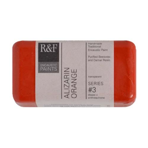 R&F Encaustic 40ml Paint, Alizarin Orange