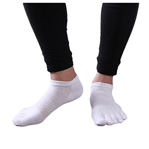 Menstoe Sokker, Inkach Stilige Menn Bomull Fem Finger Sokker Pustende Løpesokker Lette, Uteblivelse Sokker En