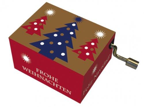 Fridolin 58321 – Caja de música de Navidad, canción: Noche de Paz, Oro