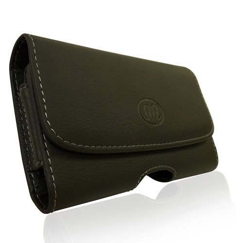 Horizontal Sideways Leather Belt Clip Case Cover Pouch Holster for (Vogue Belt)