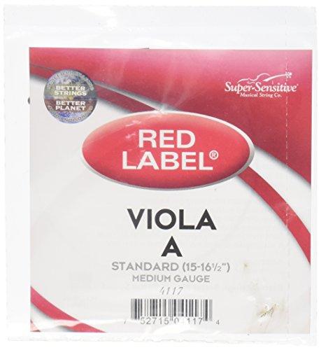 Super Sensitive Red Label 4117 Viola A String, - Red Viola