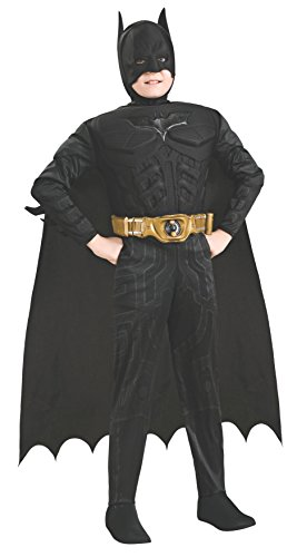Batman Dark Knight Rises Child's Deluxe Muscle Chest Batman Costume with Mask/Headpiece and Cape - Toddler -