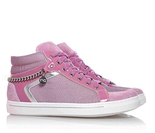 NERO GIARDINI - Zapatilla deportiva lila con cordones sneakers en sintético  y gamuza, ...