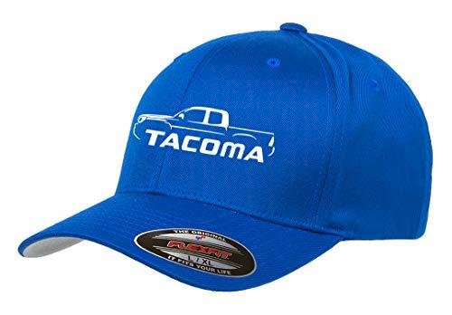Toyota Tacoma Pickup Truck Classic Outline Design Flexfit hat Cap Large/XLarge Royal (Best Classic Pickup Trucks)