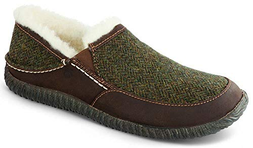 Acorn Men's Rambler Moc Slipper Olive Tweed Size 10 D US