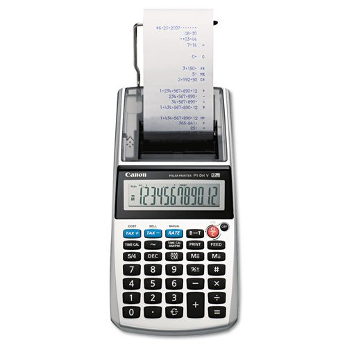 P1-DHV One-Color 12-Digit Printing Calculator, 12-Digit LCD, Purple, Sold as 1 Each by Canon