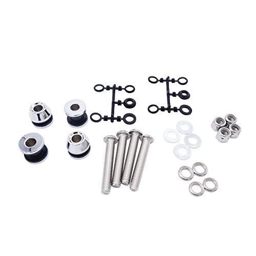 Dasen Chrome Sissy Bar Docking Hardware Kit For Harley Dyna FXDF FXDWG 2006-2017 Models(Come With Instruction)