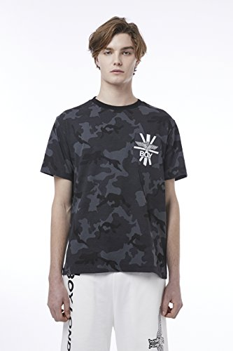 BOY London Unisex (S,M,L,XL) 18SS Camouflage Front Pocket Shortsleeve T-Shirt - Camouflage New_(BH2TS144) (Camouflage, Large) by BOY London