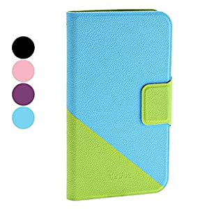 Double-Colors PU Leather Full Body Case with Stand for Samsung Galaxy Grand I9080/I9082 (Assorted Colors) , Purple