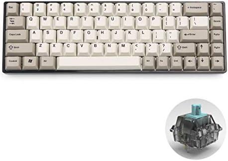 [New] Tada68 Mechanical Keyboard with T1 switches/Enjoypbt Dye-sub  keycap/Plastic or Aluminum Case (TADA68 T1(Alu Black case))