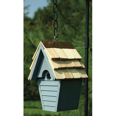 Heartwood Wren-In-The-Wind Bird House in Blue Pickle
