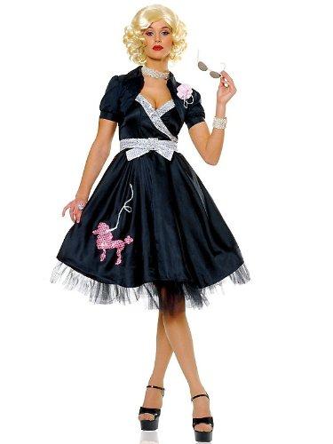 Adult Hop Diva Costume - Black Small Fancy Dress - Black Hop Diva Costumes