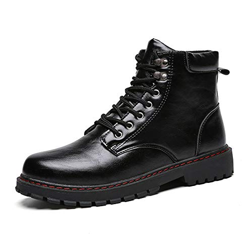 for for for Stivaletti all Lavoro Scarpe for Casual High Black Daily Top da e 40 Militari Dimensione Nero Men Martin Velvet Color EU Boots Bangxiu Occasions FwqtSS