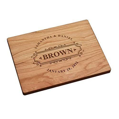 Personalized Cutting Board - Circle with Large Last Name