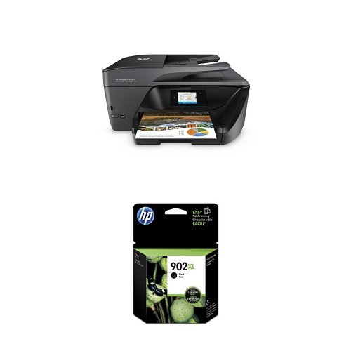 HP OfficeJet Pro 6978 Wireless All-in-One Photo Printer with Mobile Printing, Instant Ink ready (T0F29A) and HP 902XL Black Original Ink Cartridge (T6M14AN#140) Bundle (Business Hp Notebook Original)