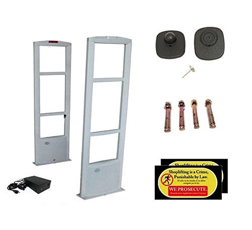 Starter Pack - EAS RF Anti Theft Retail Store Security Antenna System + 1000 Tags by Easmartech