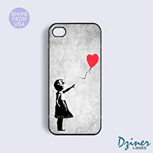 iPhone 4 4s Case - Vintage Banksy Girl iPhone Cover