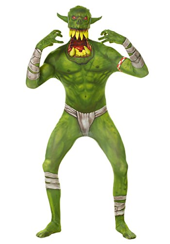 Morphsuits Kids Green Orc Monster Costume - Large 4'-4'6 / 10-12 -